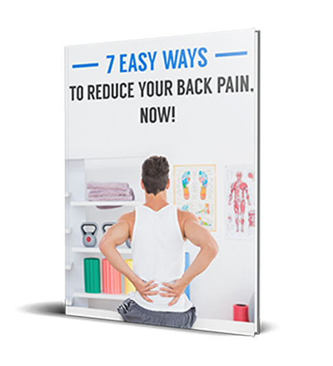 book cover - 7 easy ways to reduce your back pain