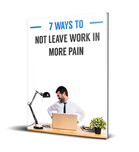 Book cover - 7 ways to not leave work in more pain