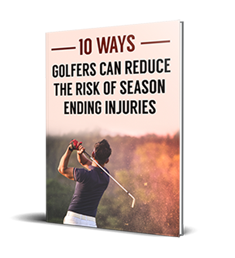 Book cover - 10 ways golfers can reduce the risk of season ending injuries