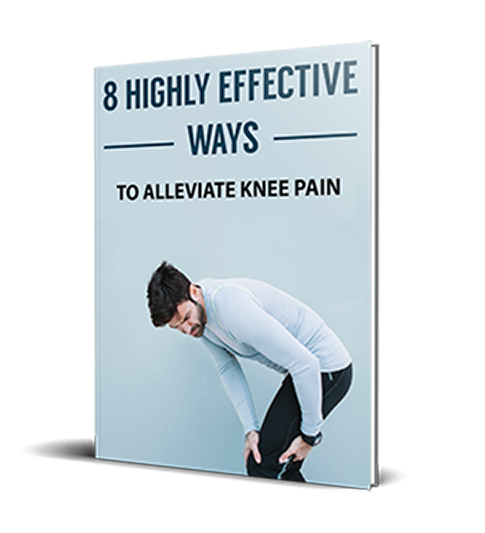 8 highly effective ways to alleviate knee pain - book cover